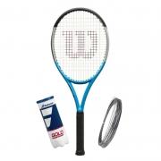 Raquete de Tênis Wilson Ultra 100 V3 Reverse + Bola e Corda