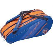 Raqueteira Babolat Roland Garros Expansível  x4/x7/x10 - Azul e Laranja