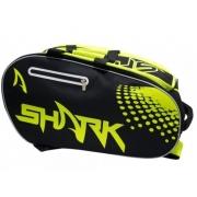 Raqueteira de Beach Tennis Shark - Preto/Verde