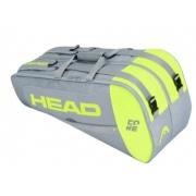 Raqueteira Head Core 6X Combi - Cinza/Amarelo