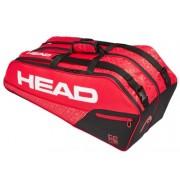 Raqueteira Head Core Combi X6 - Preto e Vermelho