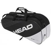 Raqueteira Head Elite Combi X6 Preto e Branco