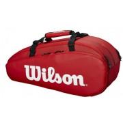 Raqueteira Wilson Tour 2 Comp X6 - Vermelho