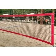 Rede de Beach Tennis  Master Rede  - Fio 1,5mm - Seda - RT-BT - Vermelho