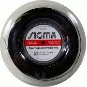 Rolo de Corda Sigma Tournament Nylon Preto - 200M