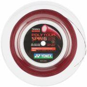 Corda Yonex Poly Tour Spin G 16L 1.25mm Vermelho - Rolo com 200 Metros