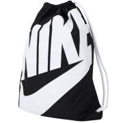 Sacola Nike Heritage Hym 13 Litros - preto e Branco