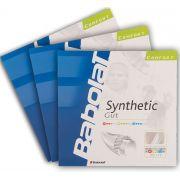 Corda Babolat Synthetic Gut 17 1.25mm 11,75m Natural - Set Individual Pack C/ 3
