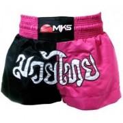 Short de Muay Thai MKS - Preto/Pink