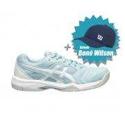 Tenis Asics Gel Dedicate 6 Smoke Blue/White - Feminino + Brinde Boné Wilson