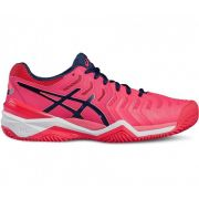 Tênis Asics Gel Resolution 7 Rosa - Quadra Saibro