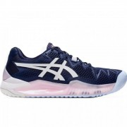 Tênis Asics Gel Resolution 8 Clay Azul Feminino Peacoat/White - Saibro