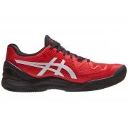 Tenis Asics Gel Resolution 8 Clay Eletric Red/White - Saibro