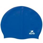 Touca de Natação Em Silicone Standard Muvin - Azul
