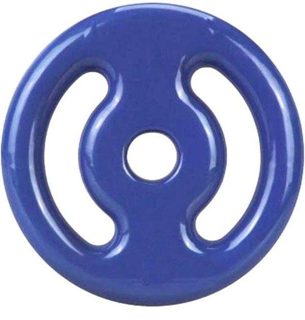 Anilha de Ferro Fundido Emborrachado  10kg - Azul  - REAL ESPORTE