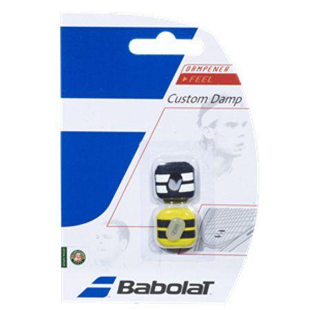 Antivibrador Babolat Custom Damp Preto/Amarelo  - REAL ESPORTE