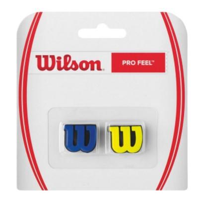 Antivibrador Wilson Pro Feel - Azul/Amarelo  - REAL ESPORTE