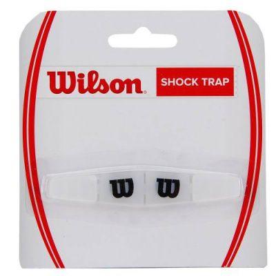 Antivibrador Wilson Shock Trap - Transparente/Preto  - REAL ESPORTE