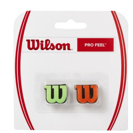 Antivibrador Wilson Wilson Pro Feel - Verde/Laranja   - REAL ESPORTE