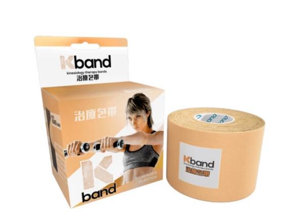 Fita Kband Bandagem Elástica Adesiva Rolo 5cm x 5m  - Bege  - REAL ESPORTE