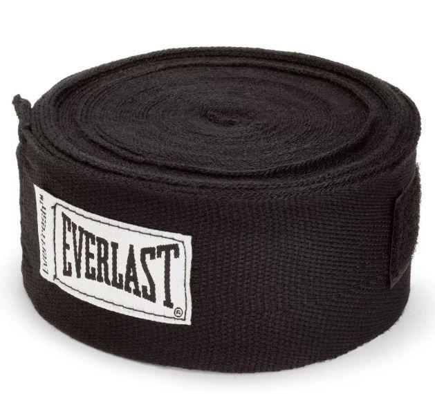 Bandagem Elástica  Everlast 4,60m  - Preta   - REAL ESPORTE