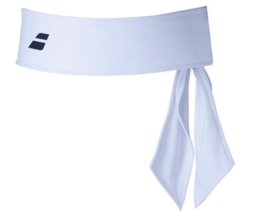 Bandana Babolat Tie Headband - Branca  - REAL ESPORTE