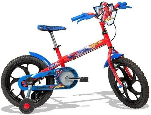 Bicicleta Caloi Infantil Spider Man Aro 16  - REAL ESPORTE