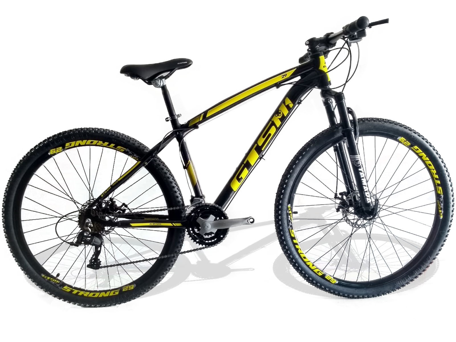 Bicicleta Gts M1 Stilom Amarela Aro 29   - REAL ESPORTE
