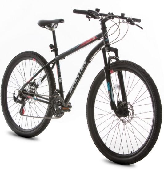 Bicicleta Houston Discovery Aro 29 Kit Shimano + Freio a Disco - Preto Tam:17 + Brinde Capacete Rava  - REAL ESPORTE