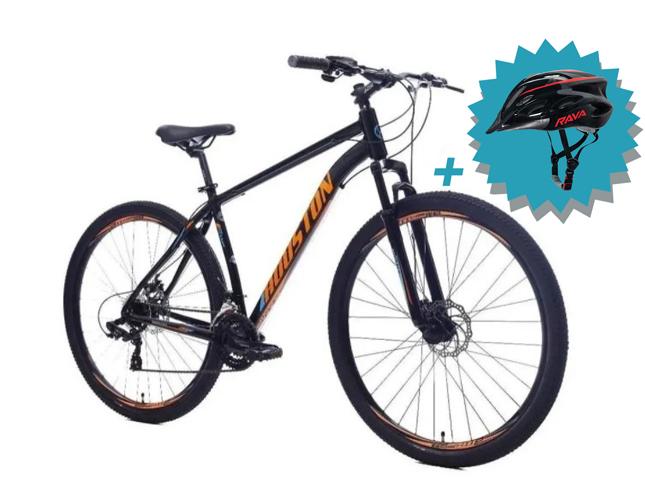 Bicicleta Houston Kamp Aro 29 Kit Shimano + Freio a Disco + Brinde Capacete Rava  - REAL ESPORTE