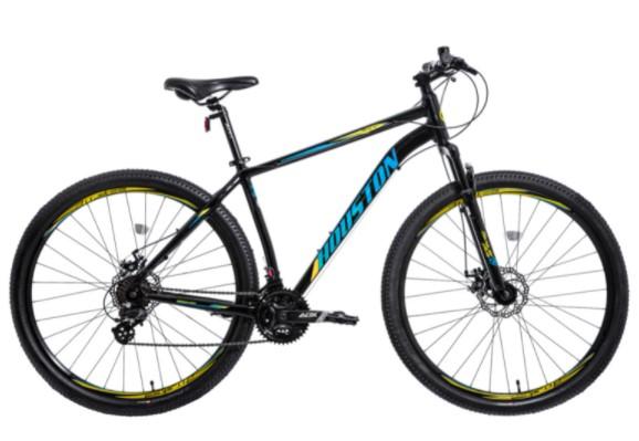 Bicicleta Houston Skyler Kit Shimano + Freio a Disco - Preto Tam:19  - REAL ESPORTE