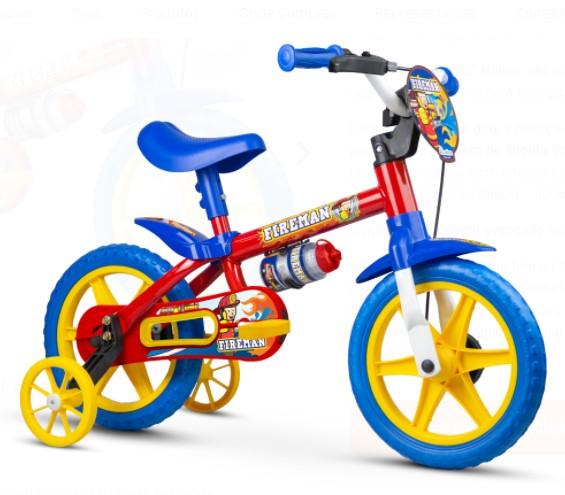 Bicicleta Nathor Aro 12 Fireman  - REAL ESPORTE