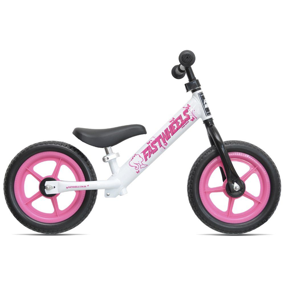 Bicicleta Pré Bike Princess Branco/Rosa Fast Wheels  - REAL ESPORTE