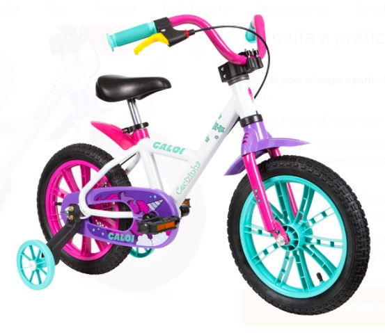 Bicicletas Caloi Aro 14 Cecizinha  - REAL ESPORTE