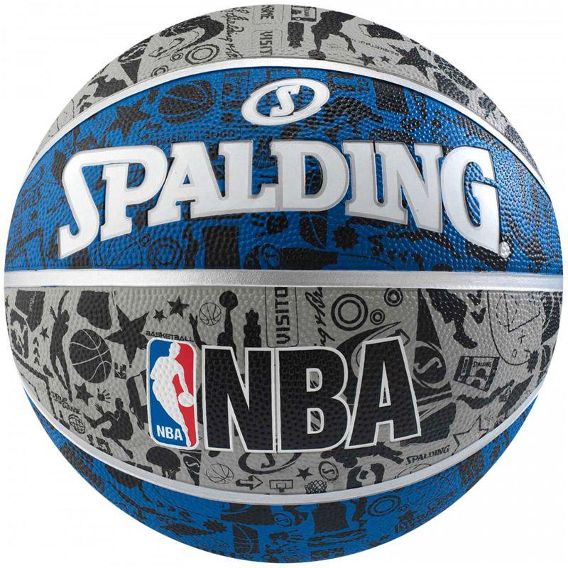 Bola de Basquete Spalding NBA Grafite  - REAL ESPORTE