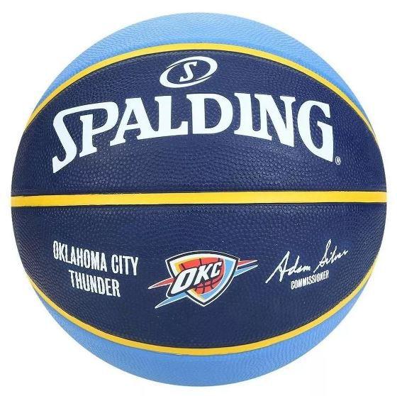 Bola de Basquete Spalding NBA Oklahoma City Thunder - Azul Claro e Marinho  - REAL ESPORTE
