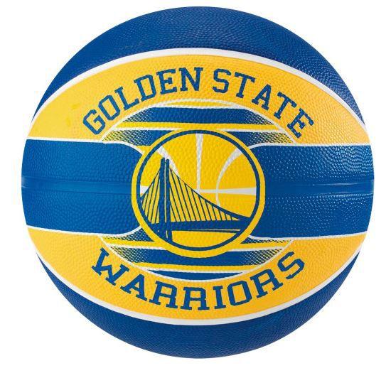 Bola de Basquete Spalding NBA Time Golden State Warriors - Azul e Amarelo  - REAL ESPORTE