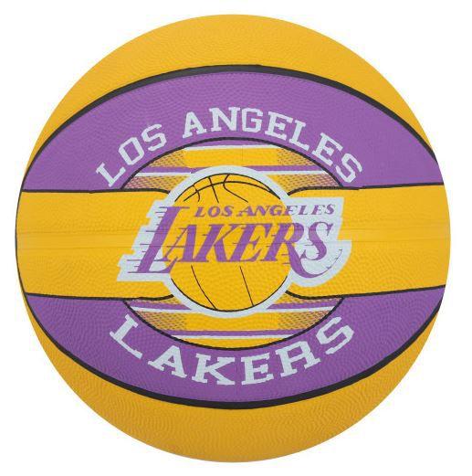 Bola de Basquete Spalding NBA Time Los Angeles Lakers   - Roxo e Amarelo  - REAL ESPORTE