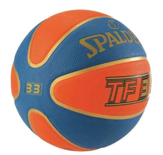 Bola de Basquete Spalding NBA Time TF 33 (3X3)  - Azul e Laranja  - REAL ESPORTE