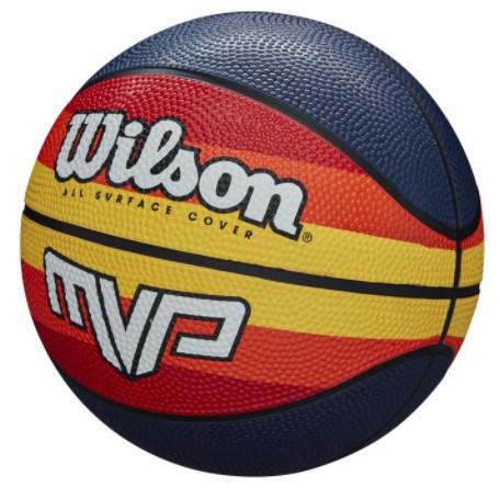 Bola De Basquete Wilson MVP Retro - Azul/Laranja  - REAL ESPORTE