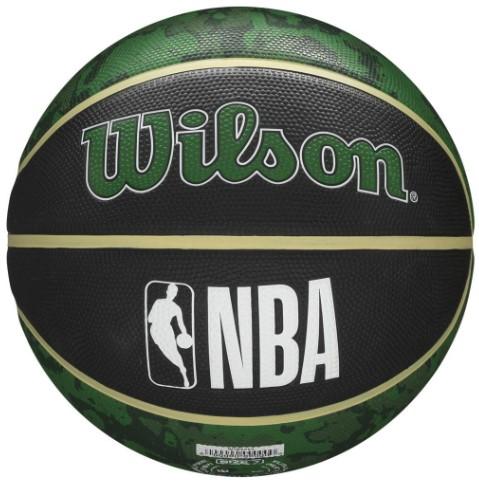Bola de Basquete Wilson NBA Team Tiedye Bucks - Preto/Verde  - REAL ESPORTE