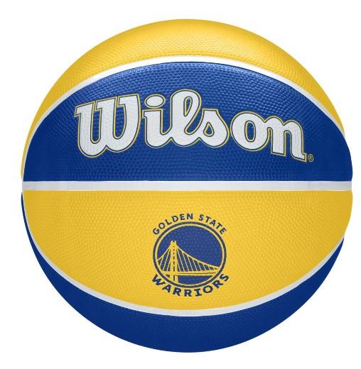 Bola de Basquete Wilson NBA Team Tribute Warriors - Amarelo/Azul  - REAL ESPORTE