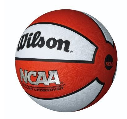 Bola de Basquete Wilson NCAA Killer Crossover - Branco e Vermelho  - REAL ESPORTE