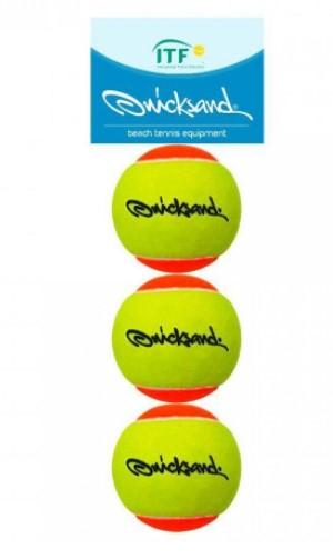 Bola de Beach Tennis Quicksand 3 Unidades  - REAL ESPORTE