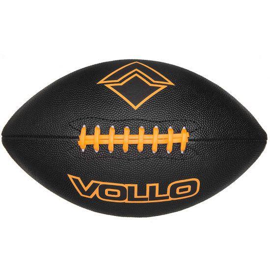Bola de Futebol Americano Vollo - Preta  - REAL ESPORTE