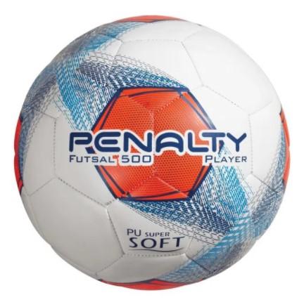 Bola de Futebol Futsal 500 Player Penalty - Laranja/Branco  - REAL ESPORTE