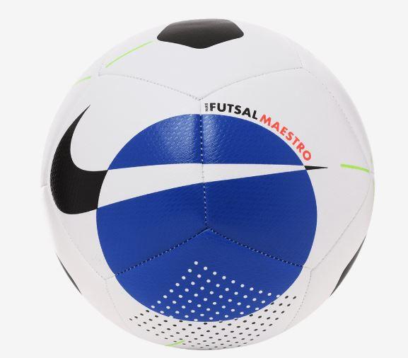 Bola de Futebol Nike Society Maestro - Branco e Azul  - REAL ESPORTE