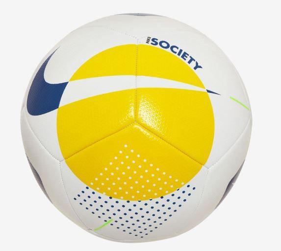 Bola de Futebol Nike Society Brasil CBF - Amarelo e Azul  - REAL ESPORTE