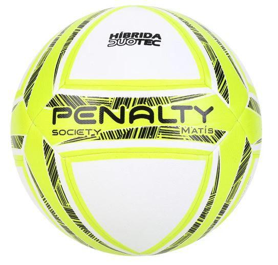 Bola de Futebol Society Penalty Matís - Branca/Amarelo  - REAL ESPORTE