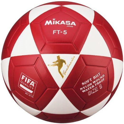 BOLA DE FUTEVOLEI MIKASA FT-5 FIFA BRANCO E VERMELHO ED. LIMITADA  - REAL ESPORTE